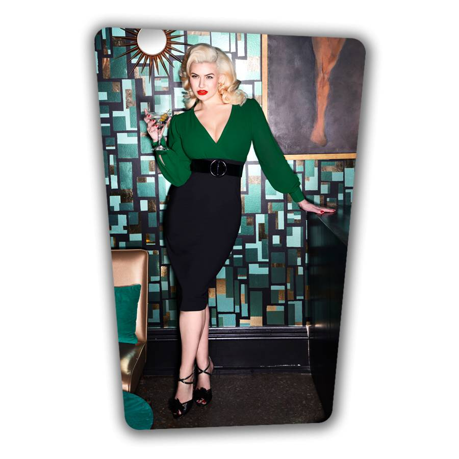 Margot Pencil Dress - Green and Black