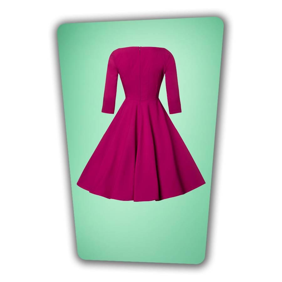 Serena Swing Dress  - Berry