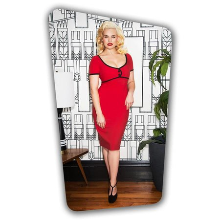 Tess Pencil Dress - Red