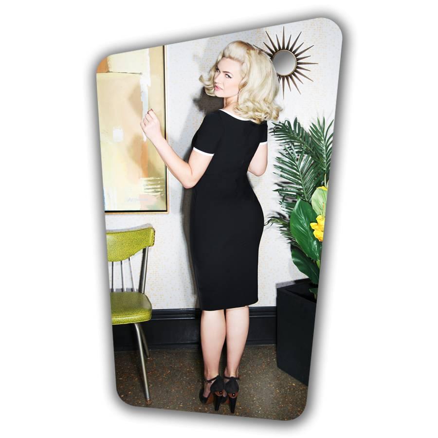Tess Pencil Dress  - Black