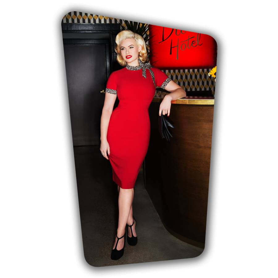 Lucy Pencil Dress - Red