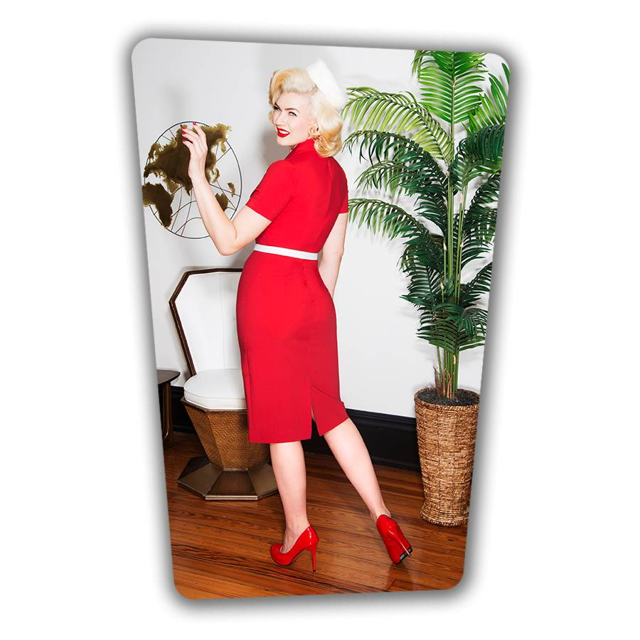 June Pencil Dress - Red