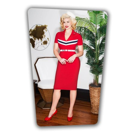 June Pencil Dress - Red