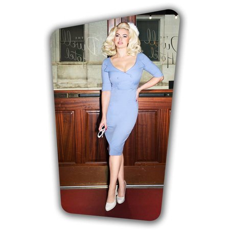 Faith Pencil Dress - Heavenly Blue