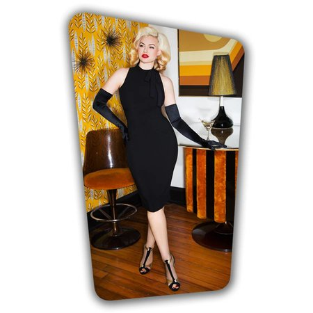 Ivy Pencil Dress - Black