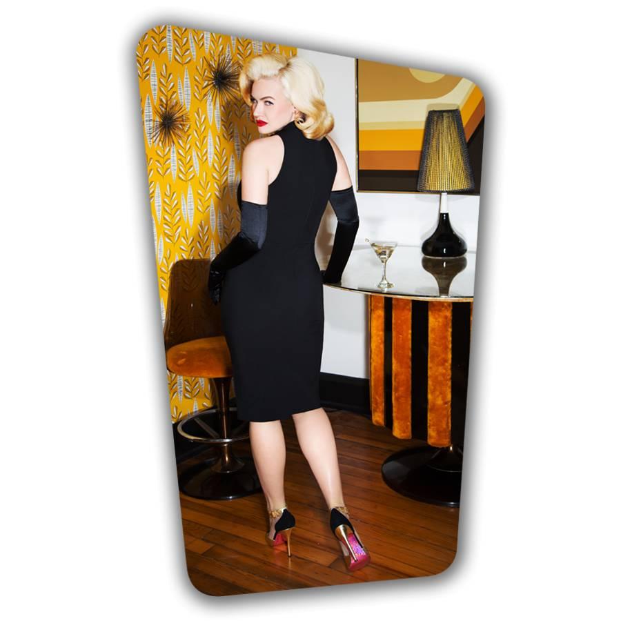 Ivy Pencil Dress - Black