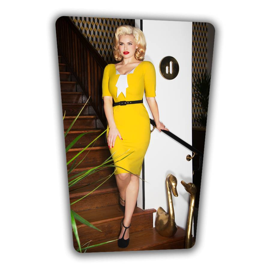 Jacky Pencil Dress - Yellow