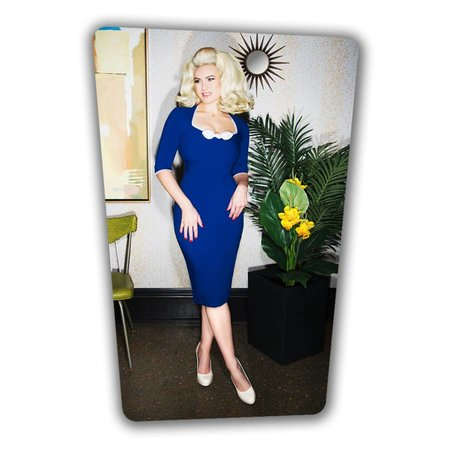 Karen Pencil Dress - Royal Blue