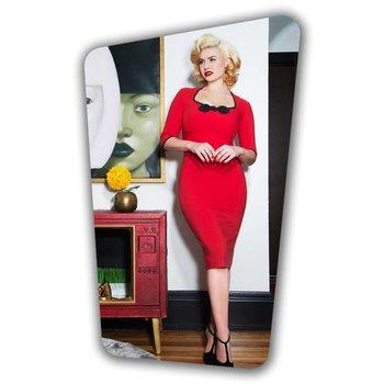 Karen Pencil Dress - Red