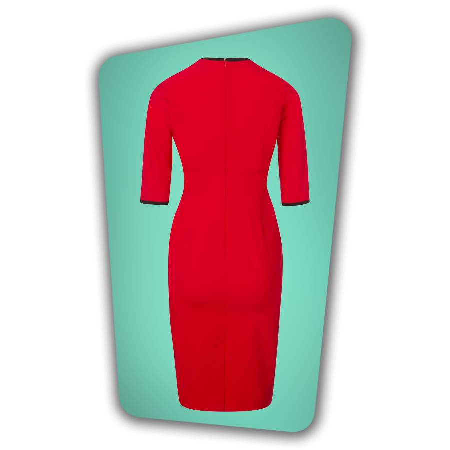Karen Pencil Dress - Red