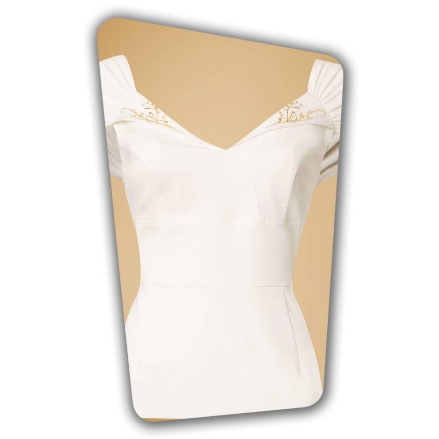 Ruby Pencil Dress - White