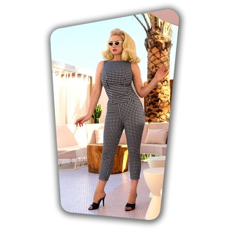 Donna Capri Suit Trousers in Gingham