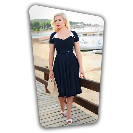Jane Swing Dress in Navy
