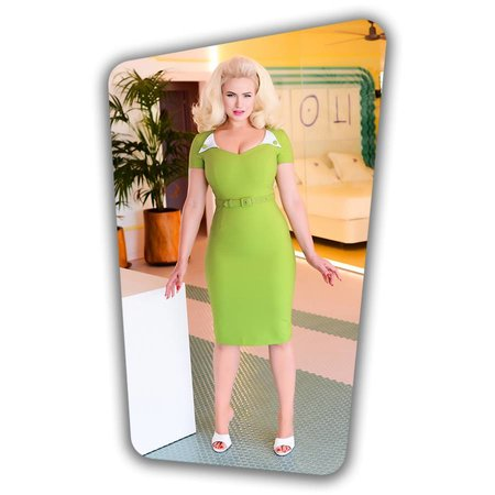 Jane Pencil Dress in Green