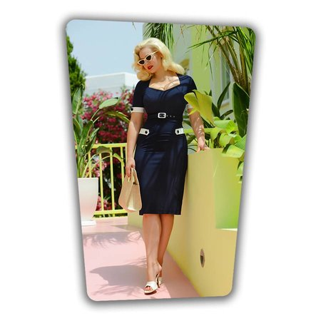 Doris Pencil Dress in Navy