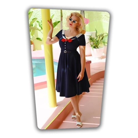 Audrey Swing Dress in Navy