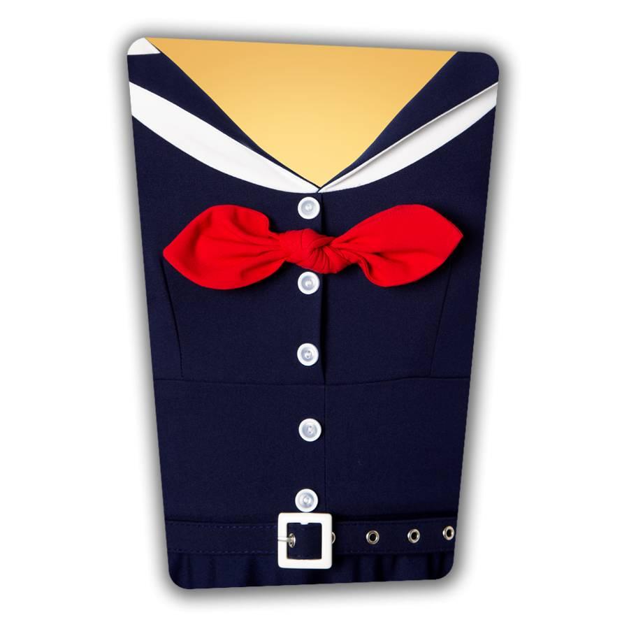 Audrey Swing Dress in Navy
