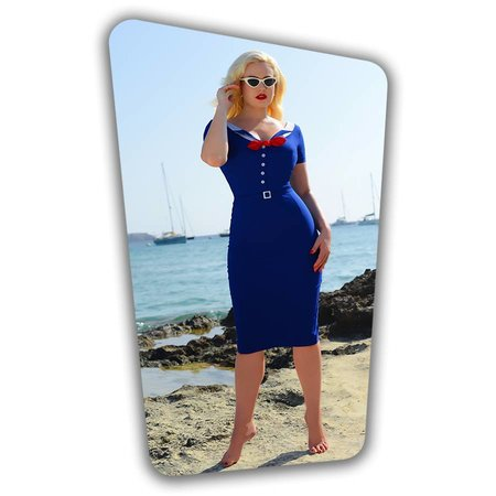 Audrey Pencil Dress in Royal Blue