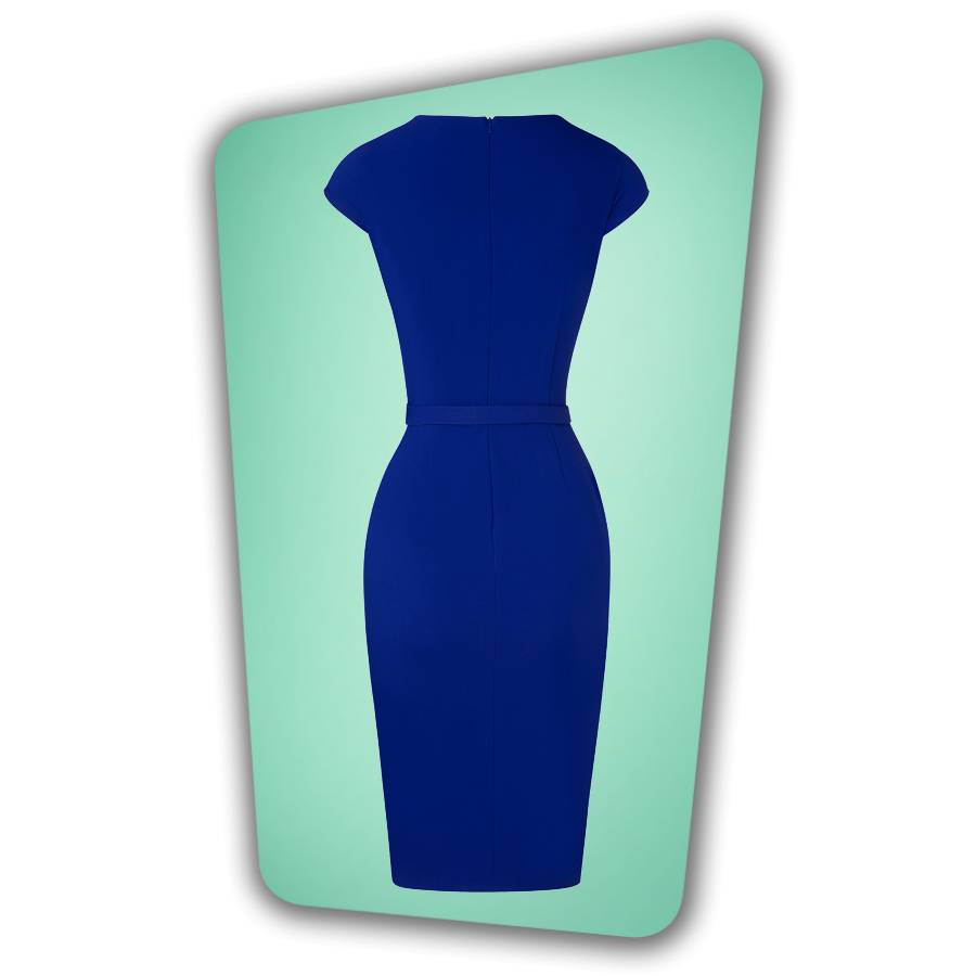 Valerie Pencil Dress in Royal Blue