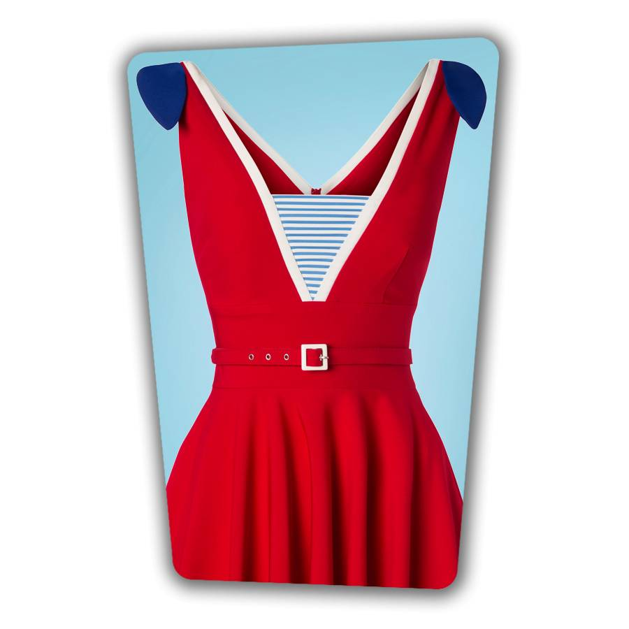 Gerry Sailor Swing Dress in Red
