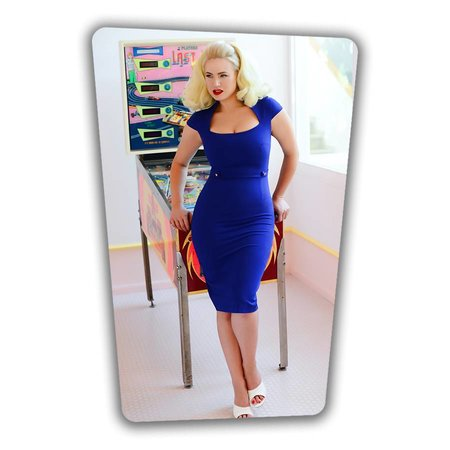 Roxy Pencil Dress in Royal Blue