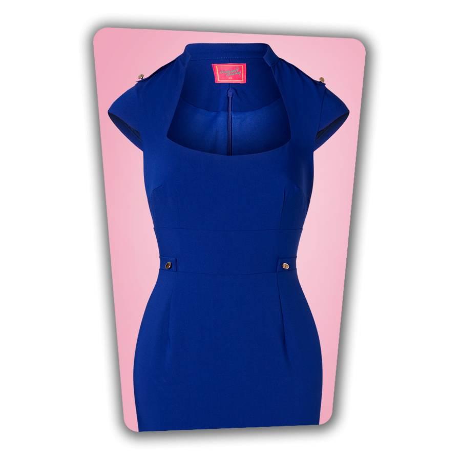 Roxy Pencil Dress in Royal Blue