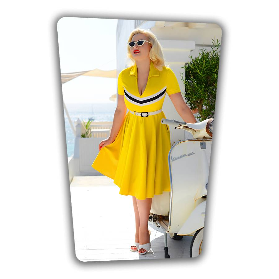 June Swing Dress in Mustard