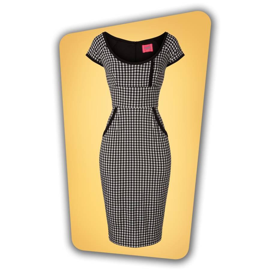 Dita Pencil Dress in Gingham