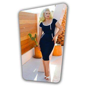 Dita Pencil Dress in Navy