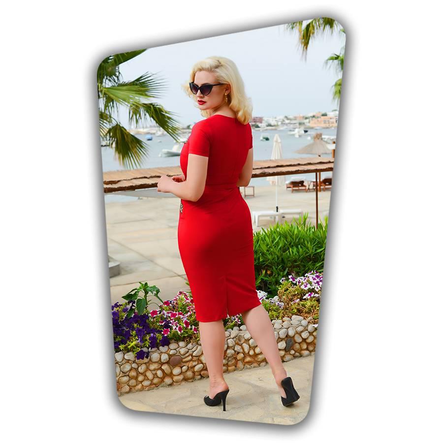 Ella Pencil Dress Red