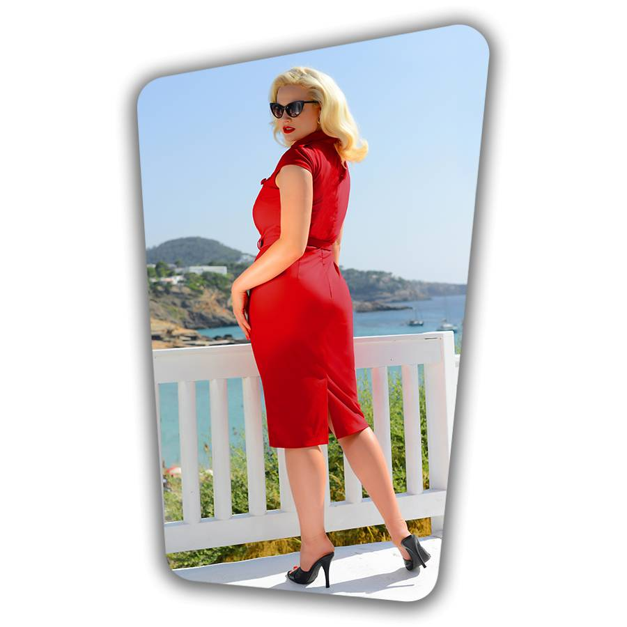 Lydia Pencil Dress Red