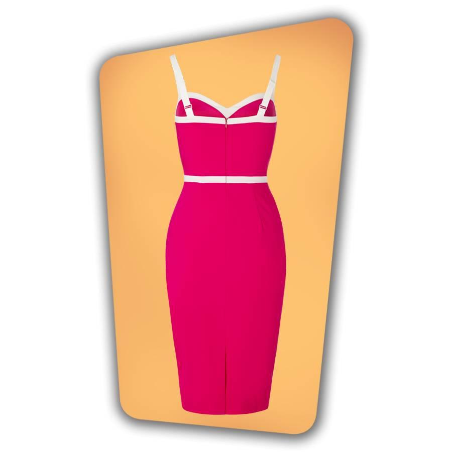 Rebecca Pencil Dress Hot Pink