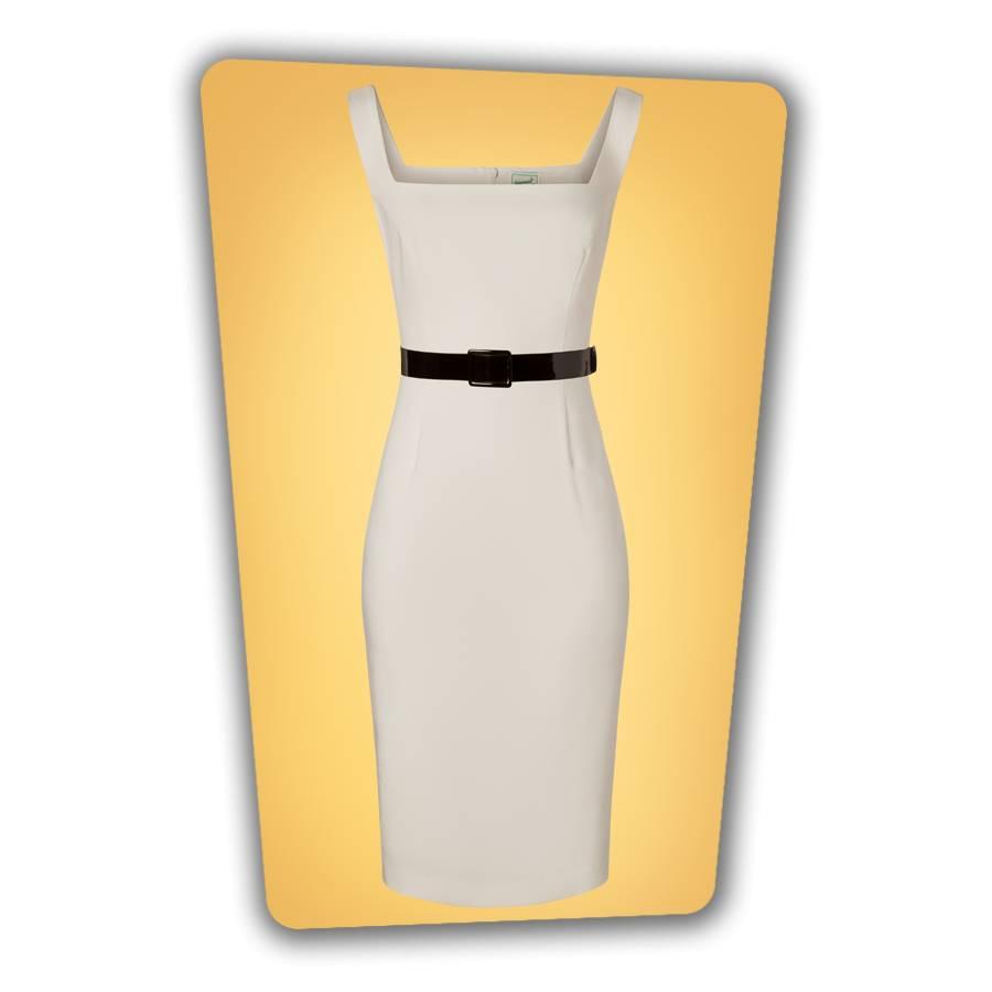 Rachel Pencil Dress White