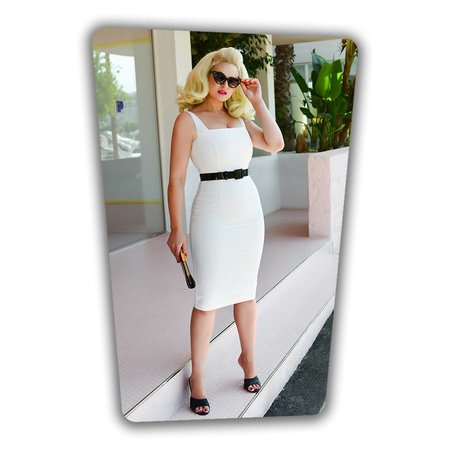 Rachel Pencil Dress White