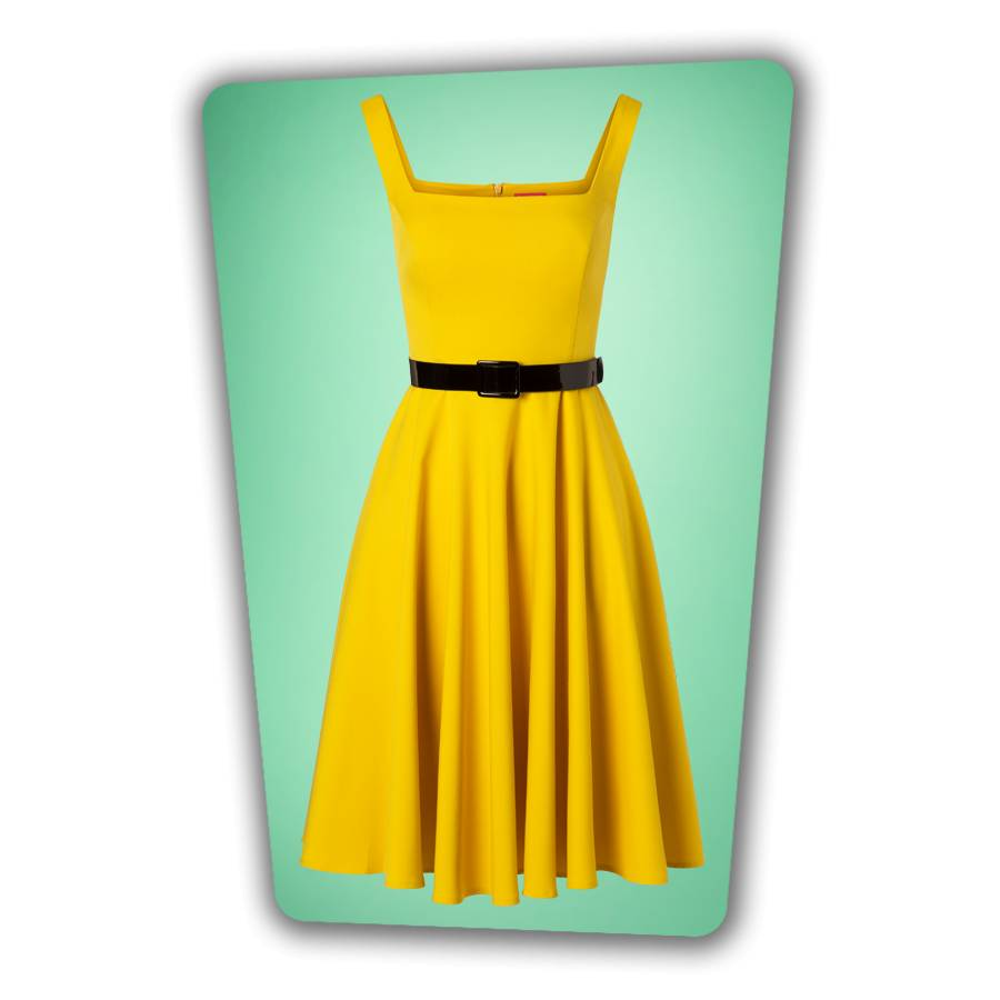 Rachel Swing Dress Yellow