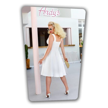 Trinity Swing Dress White