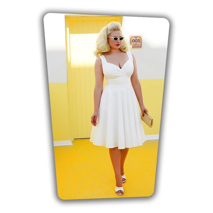 Trinity Swing Dress White
