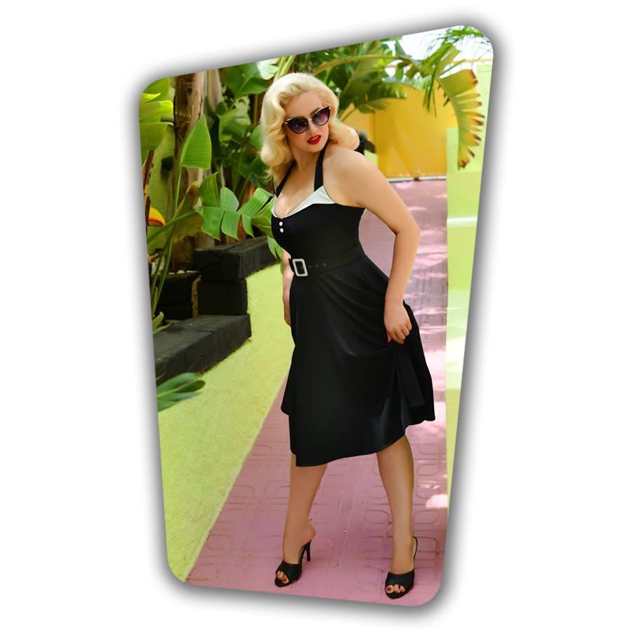 4ac0578f6662 Alice Swing Dress Black - Glamour Bunny
