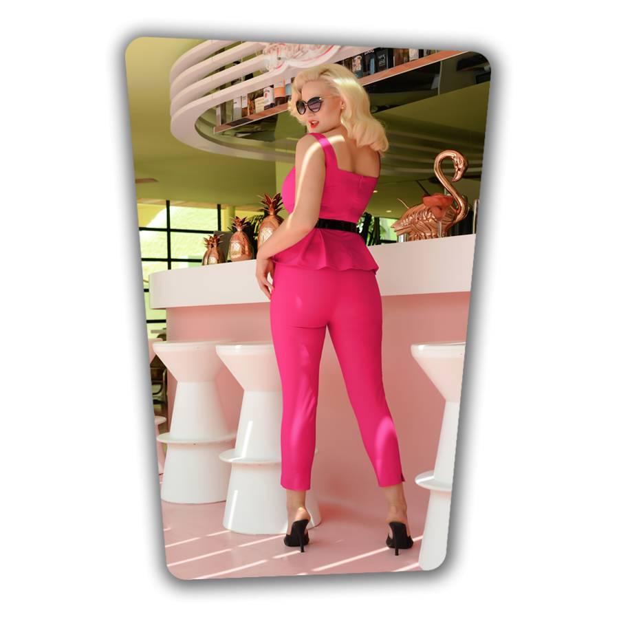 Donna Capri Pants Hot Pink