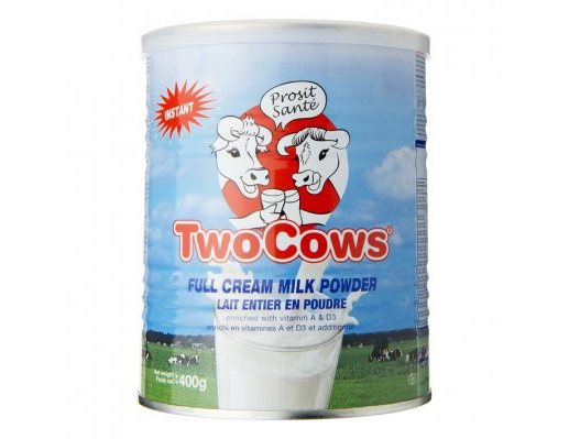 Two Cows Melkpoeder(400g*24 blikken)