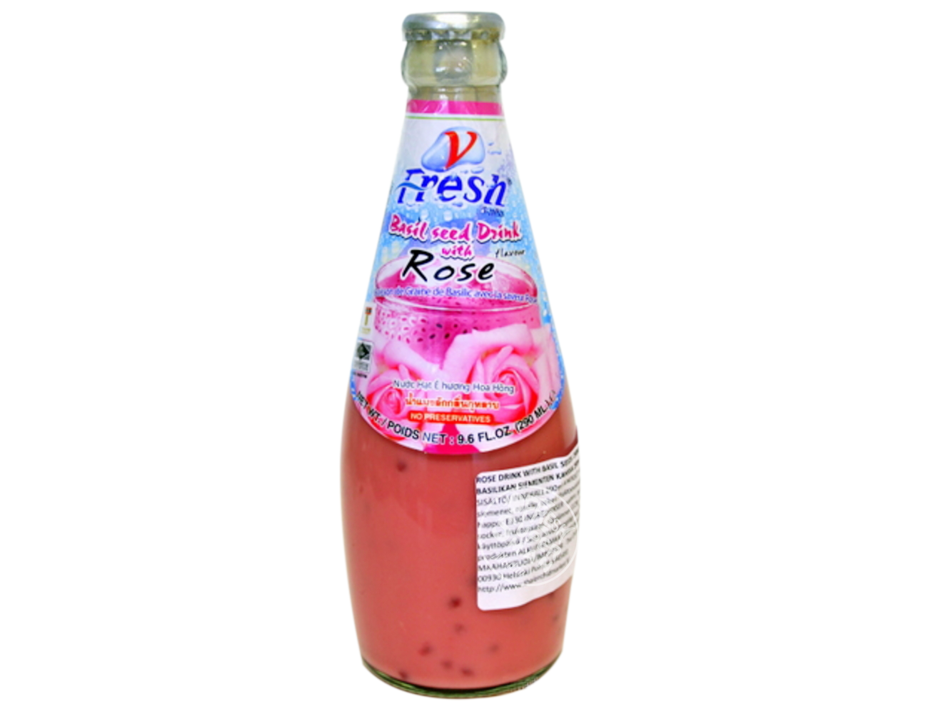 Rose Drink with Basil Seeds(290ml)