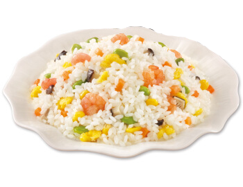 Fried Rice with Shrimps and Beef