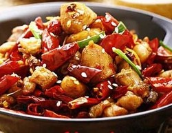 Diced Chicken with Spicy Peppers