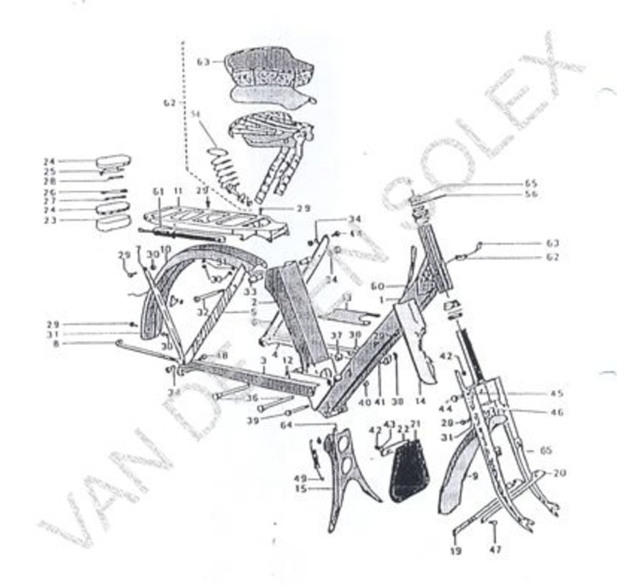 Carrying handle for frame Solex