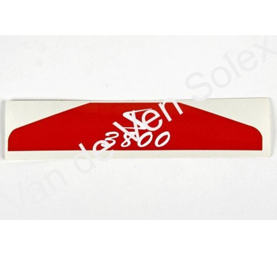 Sticker voor filterdeksel Solex hongaars