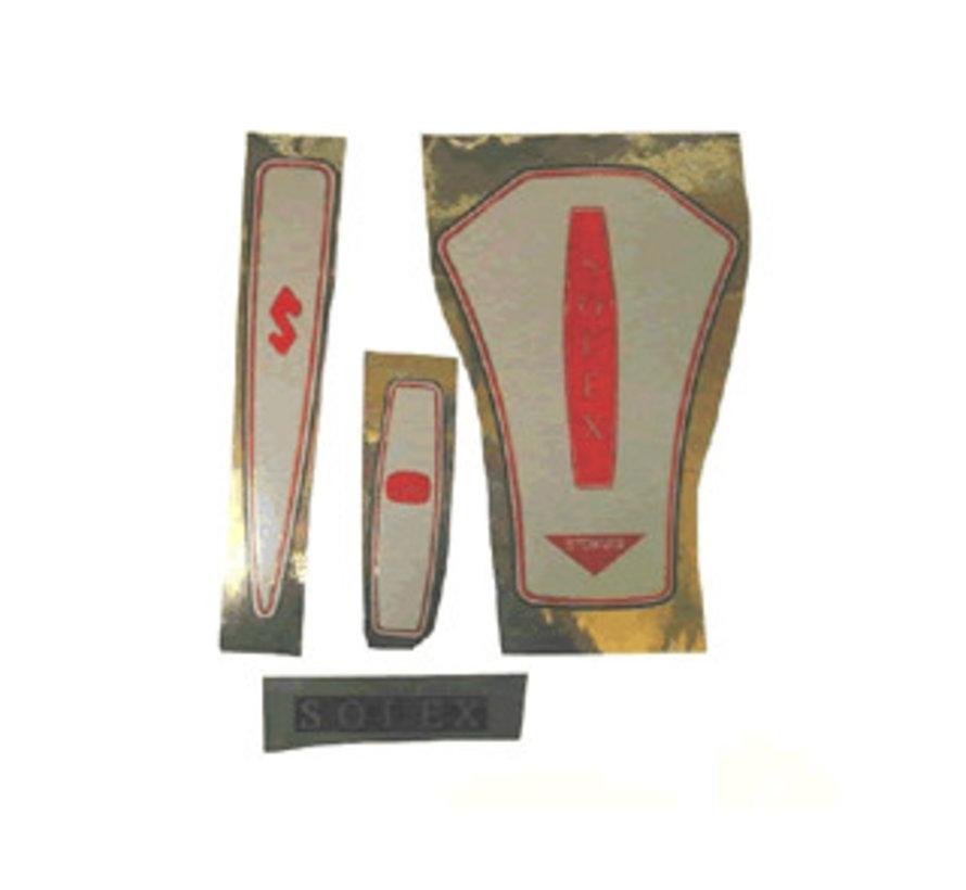 Sticker set, Stokvis cream coloured Solex