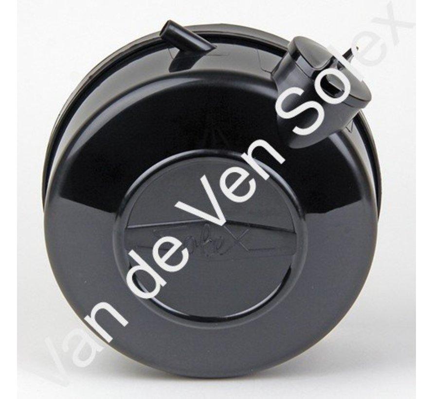 01. Kunststoff Kraftstofftank Solex komplett schwarz (mit Bügel)