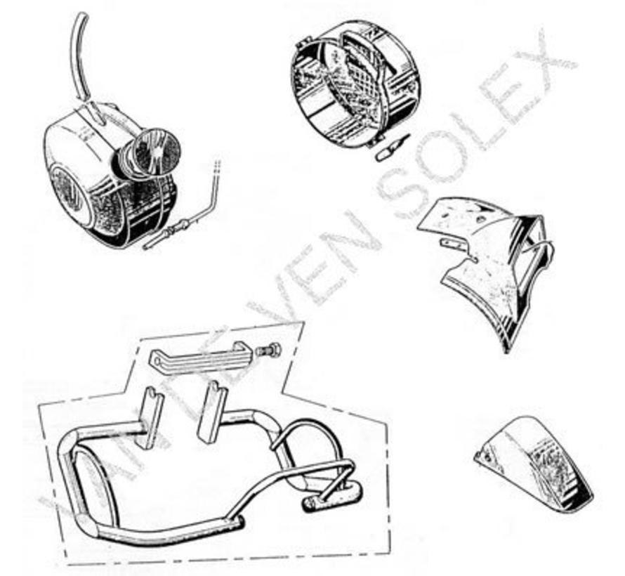 07. Befestigungsbügel für den Kraftstofftank Solex