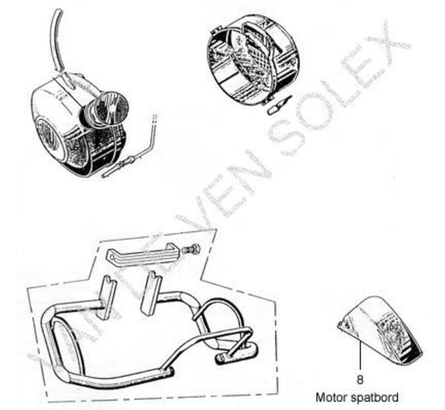 08. Motorspatbord zwart Solex 3800