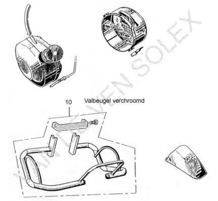 10. Motorschutzbügel verchromt Solex 1700-2200